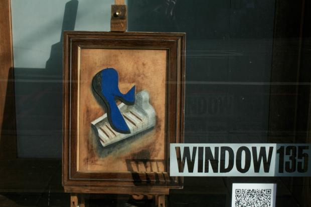 blue piano collage